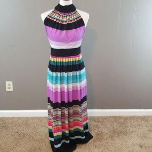 A.N.A women's halter maxi dress size M